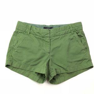 J. Crew Chino Shorts Khaki Green Size 2